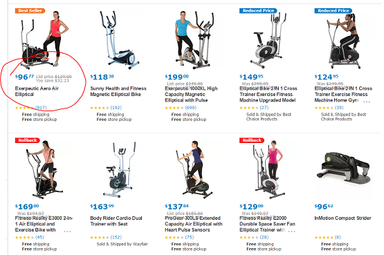 99 dollar elliptical on sale, great deals on amazon